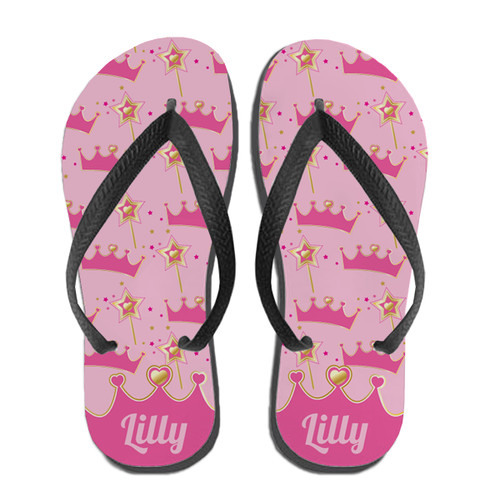 Personalized Pretty Princess Flip Flops