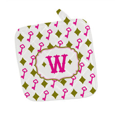 Personalized Chic Antique Pot Holder Pink