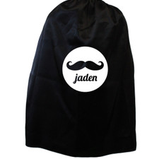 Personalized Mustache Magician Cape