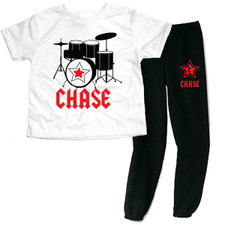 Personalized Rockstar Loungewear Set Red