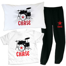 Personalized Rockstar Slumber Party Set Red