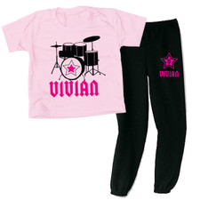 Personalized Rockstar Loungewear Set Pink