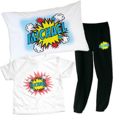 Personalized Pop Art Slumber Party Set Red