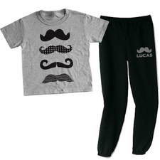 Personalized Mustache Mania Loungewear Set