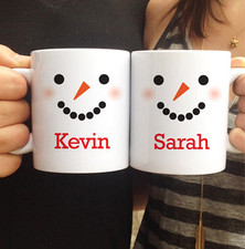 Personalized Snowman Mug Duo