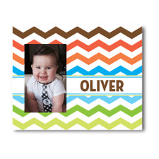 Personalized Wild Chevron Picture Frame