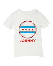 Personalized Chicago Flag Swag Baby Shirt