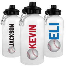 Personalized Baller Water Bottle: Baseball