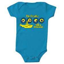Beatles Yellow Submarine One-Piece Bright Blue