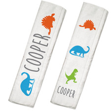 Personalized Name Game Burp Cloth Set: Dinosaur
