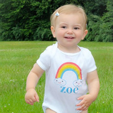 Personalized Happy Little Clouds Baby Shirt
