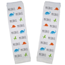 Personalized Name Game Baby Leg Warmers: Dinosaur