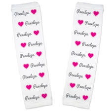 Personalized Name Game Baby Leg Warmers: Hearts