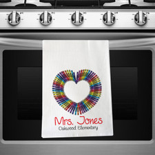 Personalized Color Your Love Kitchen Towel