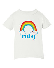 Personalized Happy Little Clouds T-Shirt