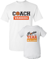Coach Dad Shirt Set: Basketball