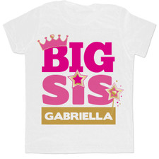 Personalized Princess Big Sister T-Shirt