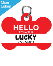 Personalized Pet Tag: Hello My Name Is New
