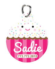 Personalized Pet Tag: Freshly Baked Cupcake New