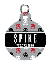 Personalized Pet Tag: Rebel Rocker Red