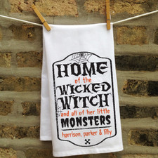 Personalized Wicked Witch Kitchen Towel
