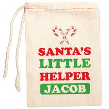 Personalized Gift Bag: Santa's Little Helper