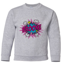 Personalized Pop Art Pullover Sweatshirt Pink New