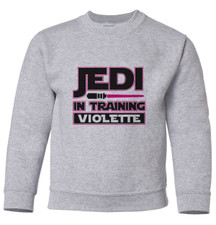 Personalized Jedi Pullover Sweatshirt Pink