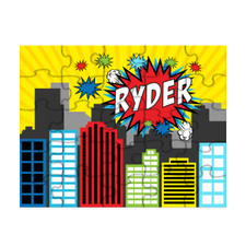 Personalized Pop City Puzzle Red New