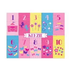 Personalized Counting Kingdom Princess Puzzle New