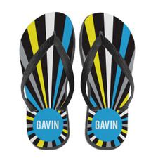 Personalized Burst Flip Flops: Bold Night