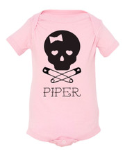 Personalized Skully Girl Baby Shirt