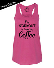 Fueled By Coffee Racerback Tank Top