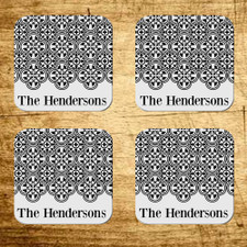 Personalized La Boheme Coaster Set