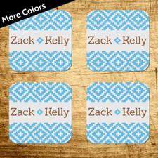 Personalized Tribal Coaster Set