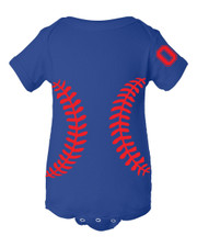 Personalized Lil' Cub Baseball Baby Shirt