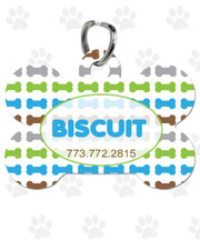 Personalized Pet Tag:  Lil' Bones Blue Bone