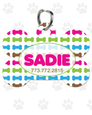 Personalized Pet Tag:  Lil' Bones Pink Bone