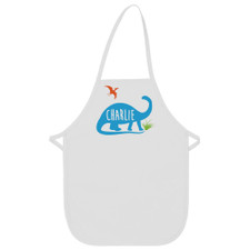 Personalized Jurassic Dino Kid's Apron Blue New