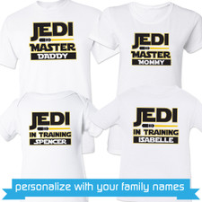 Personalized Jedi Family Shirts New