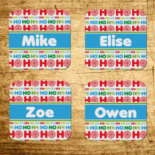 Personalized Ho Ho Ho Christmas Coaster Set