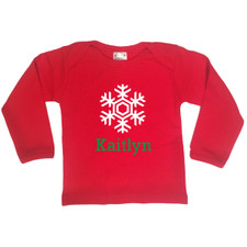 Personalized Snowflake T-Shirt Red