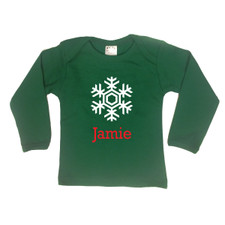Personalized Snowflake T-Shirt Green New