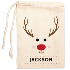 Personalized Gift Bag: Red-Nosed Reindeer