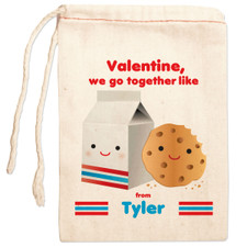Personalized Gift Bag: BFF Milk & Cookies Valentine New