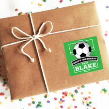 Personalized Happy Birthday Stickers: Soccer New
