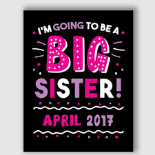 Printable Big Sister Announcement Sign