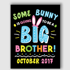 Printable Big Brother Announcement Sign for Easter