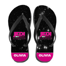 Personalized Kids Pink Star Wars Flip Flops