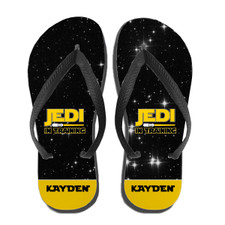 Personalized Kids Star Wars Flip Flops